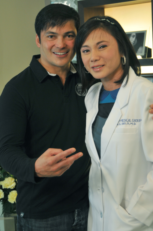 Dr. Vicki Belo with Gabby Concepcion
